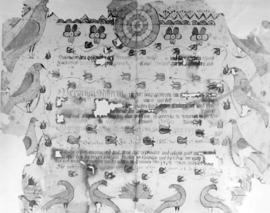Fraktur of birth certificate for Vernonica