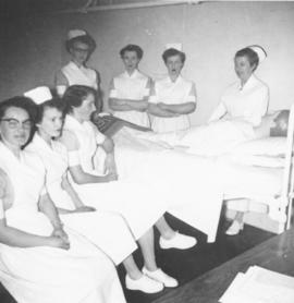 A group of nurse's aides, with Maurine Regehr