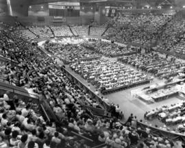 Mennonite World Conference crowd inside the
