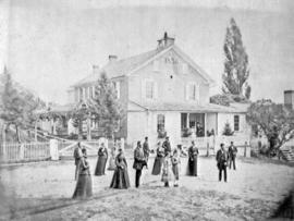 Jacob Y. Shantz family standing in front of their