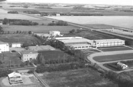 Aerial photograph of the Rosthern Junior College campus