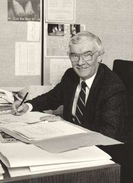 Ralph Lebold in his office