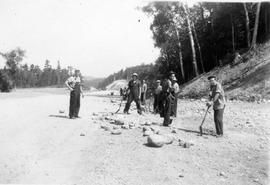 Road work near Montreal River Alternative Service Work Camp, 1941