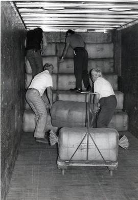 Loading truck with material aid for Honduras