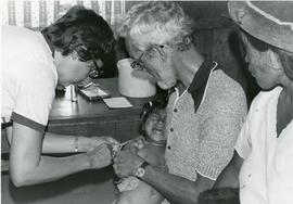 Administering a  TB vaccine in Bolivia