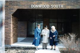 Heidi, Peter, Mary outside Donwood South