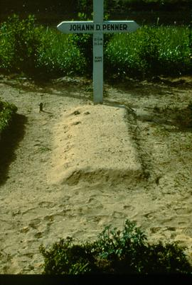 Refugee grave at Gronau camp.