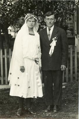Wedding picture of Lieschen and Hans in Karassan