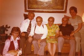 Heidi, Poncho, Hans Huebert, Peter, Mary, Alfred, Edith