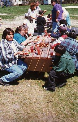 Lunchtime at family camp