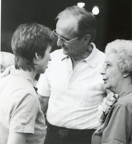 Donna Detweiler with Esther and C. Nelson Hostetter