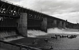 Dam, boats as 27.29 and 27.30 close to dam.