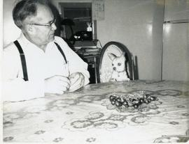 Peter & Poncho at the table, 1970