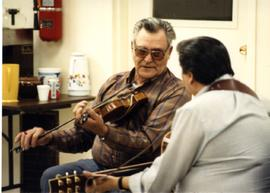 Harry Monkman on fiddle