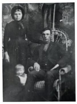 Abram S. Rempel with wife  nee Maria Sawatzky and child