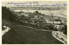 Postcard: View of Nizhni-Novgorod from outside the wall