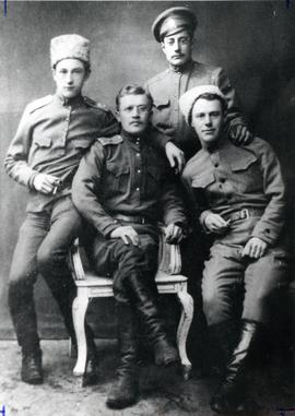 Mennonite boys who served in the Red Cross under the Russian military during World War I