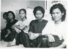A group of mothers waiting at the prenatal clinic at the Cambodia Demonstration Health Center
