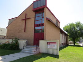 Chief Cornerstone Church (former site of Elmwood Bethel Mennonite Church) exterior view towards the south