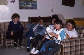 Maria and guests, Walnut Receiving Home