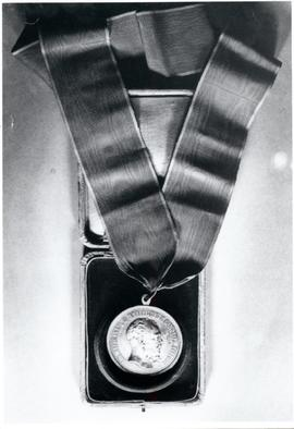 Medal given to Franz Peters in 1881