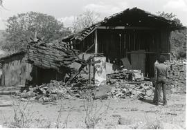 House damaged by a counter-revolutionary guerrilla attack in Nicaragua
