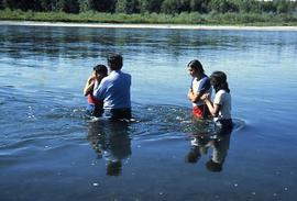 Siksika outdoor baptism