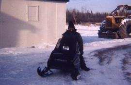 David Lehman on snowmobile