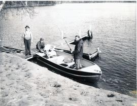 Peter with people at Rice Lake, Nov 8, 1969
