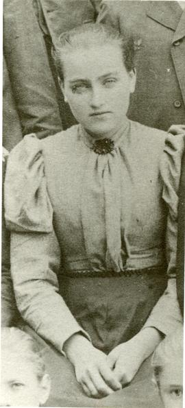 Maria Dyck (Pankratz) at 14 or 15 years old in Russia