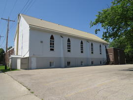 North Kildonan Mennonite Church, Exterior view toward southeast