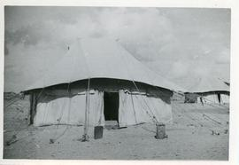 Tent in a refugee camp, Egypt.