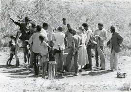 Digging a well in Burkina Faso