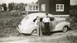 Peter and ____ with a car