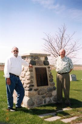 Ron and Ken Braun at Eigengund cemetery marker