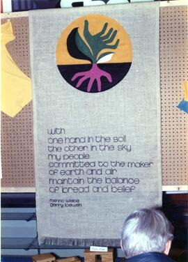 Cloth Banner by Menno Wiebe and Gerry Loewen