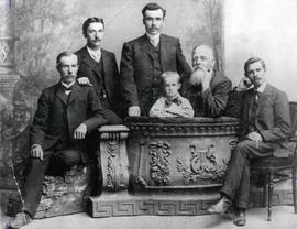 Wilhelm Dyck (b. 1854) with his son and sons-in-law