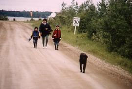 Walking down the road, Matheson Island