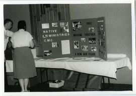 """Walking Together"" display at conference"