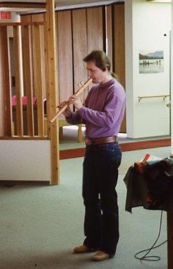 Terry Widrick playing flute