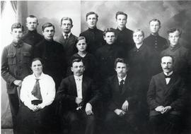 Graduating class of Davlekanovo school