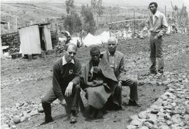 John Hostetler, a12-year-old orphan boy and Beyene Mulato in Ethiopia