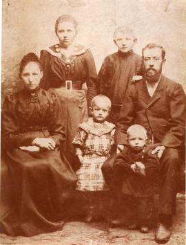 Johann Giesbrecht and his family