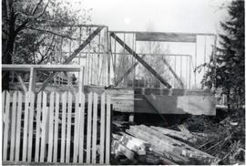 Building a house, July 1955
