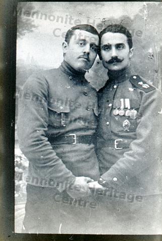 Two Mennonite Men In World War I Service Russia