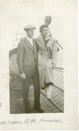 Paul Hansen and wife on ship