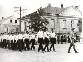 Volksdeutsche self defense force on parade