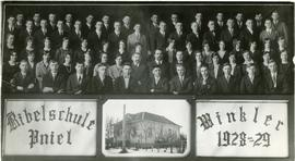 Bible school in Winkler 1928-1929