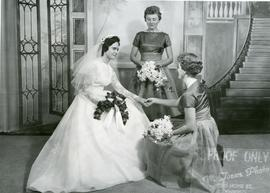 Edith with her bridesmaids, 1960