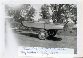 Boat built by Alfred Klippenstein